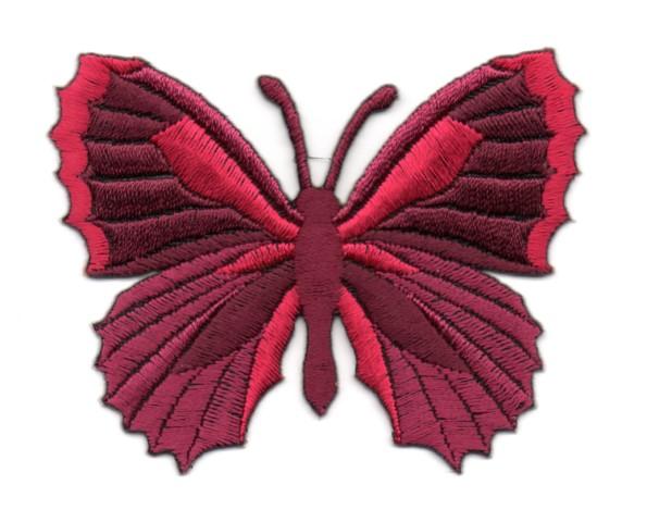 Applikation Patch Schmetterling 7,3 x 5,5cm Farbe: Dunkelrot