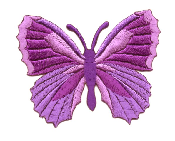 Applikation Patch Schmetterling 7,3 x 5,5cm Farbe: Violett