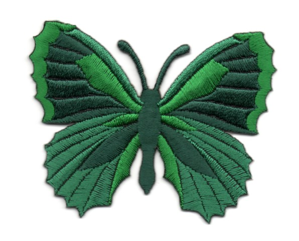 Applikation Patch Schmetterling 7,3 x 5,5cm Farbe: Grün