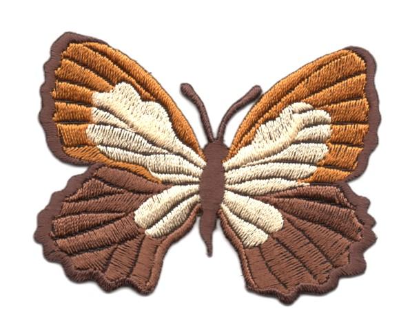 Applikation Patch Schmetterling 7,3 x 5,5cm Farbe: Braun