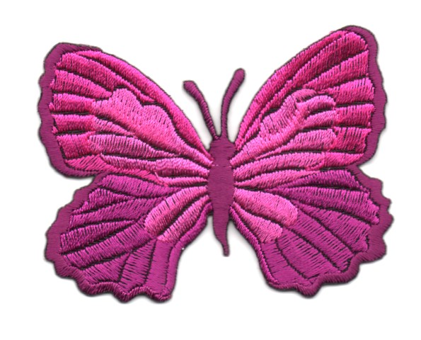 Applikation Patch Schmetterling 7,3 x 5,5cm Farbe: Fuchsia