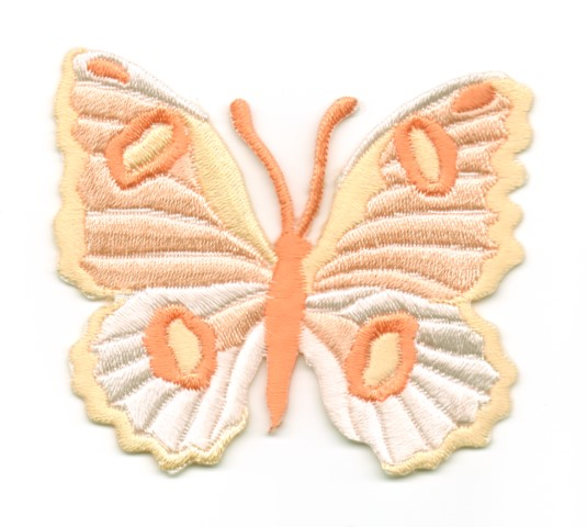 Applikation Patch Schmetterling 6,7 x 5,7cm Farbe: Lachs