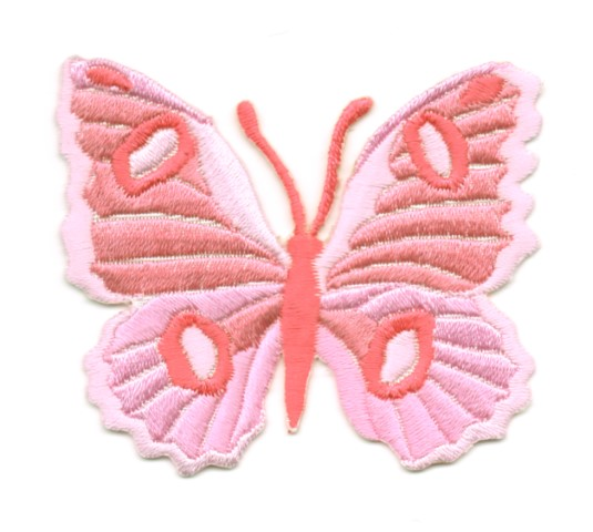 Applikation Patch Schmetterling 6,7 x 5,7cm Farbe: Rosa