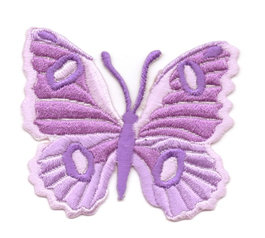 Applikation Patch Schmetterling 6,7 x 5,7cm Farbe: Flieder