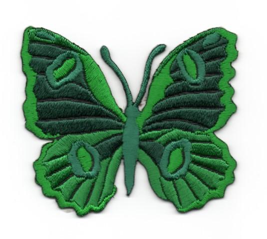 Applikation Patch Schmetterling 6,7 x 5,7cm Farbe: Dunkelgrün