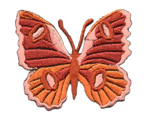 Applikation Patch Schmetterling 6,7 x 5,7cm Farbe: Terracotta