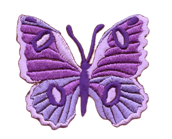 Applikation Patch Schmetterling 6,7 x 5,7cm Farbe: Violett