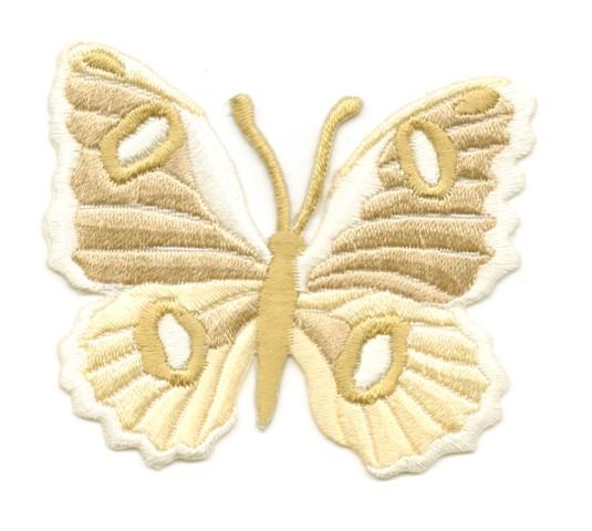 Applikation Patch Schmetterling 6,7 x 5,7cm Farbe: Hellbraun