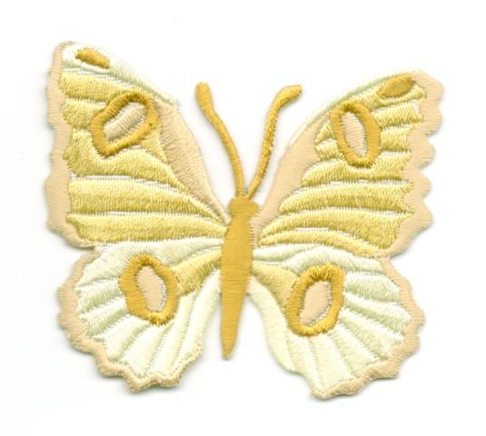 Applikation Patch Schmetterling 6,7 x 5,7cm Farbe: Ocker