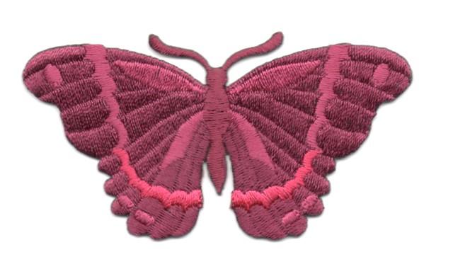Applikation Patch Schmetterling 8,3 x 4,5cm Farbe: Bordeaux