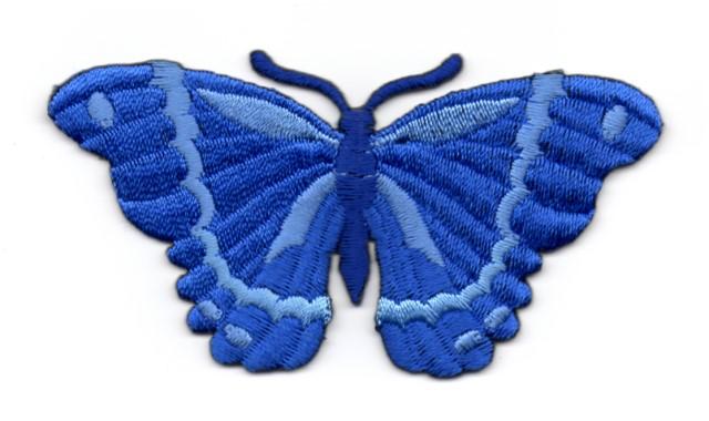 Applikation Patch Schmetterling 8,3 x 4,5cm Farbe: Royalblau