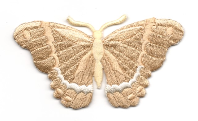 Applikation Patch Schmetterling 8,3 x 4,5cm Farbe: Hellbraun