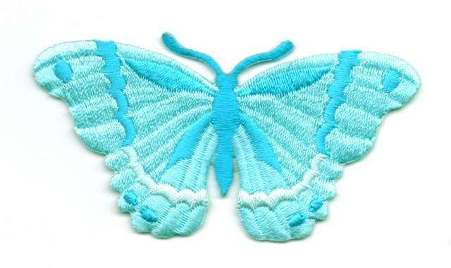 Applikation Patch Schmetterling 8,3 x 4,5cm Farbe: Türkis