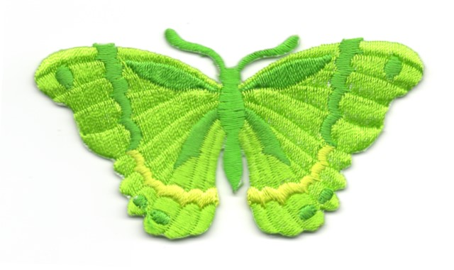 Applikation Patch Schmetterling 8,3 x 4,5cm Farbe: Neongrün