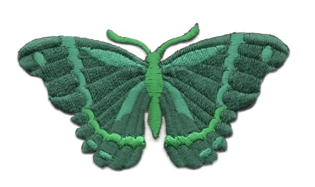 Applikation Patch Schmetterling 8,3 x 4,5cm Farbe: Dunkelgrün