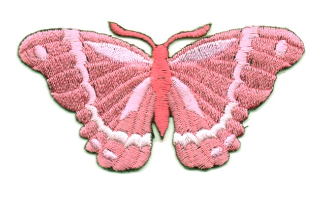 Applikation Patch Schmetterling 8,3 x 4,5cm Farbe: Magenta