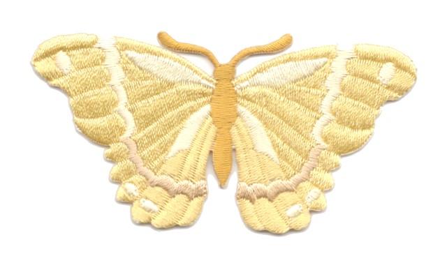 Applikation Patch Schmetterling 8,3 x 4,5cm Farbe: Goldocker