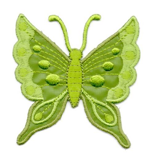 Applikation Patch Schmetterling 6,3x6,7cm Farbe: Wacholdergrün