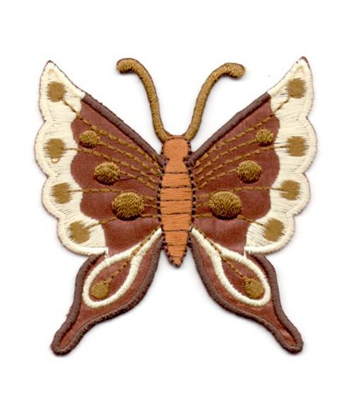 Applikation Patch Schmetterling 6,3 x 6,7cm Farbe: Dunkelbraun