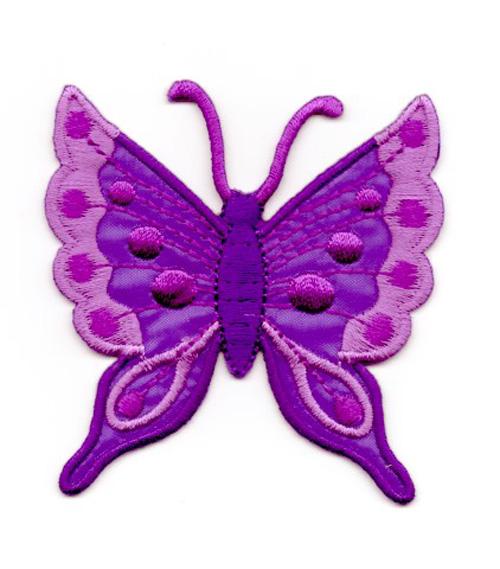 Applikation Patch Schmetterling 6,3 x 6,7cm Farbe: Lila