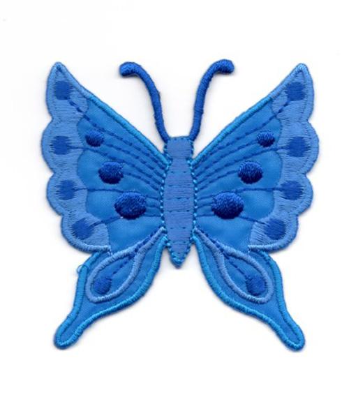 Applikation Patch Schmetterling 6,3 x 6,7cm Farbe: Blau