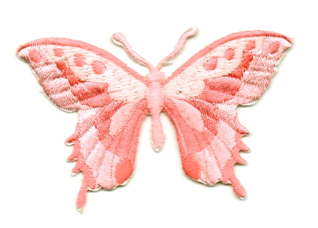 Applikation Patch Schmetterling 8,5 x 5,5cm Farbe: Rosa