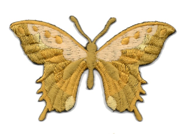 Applikation Patch Schmetterling 8,5 x 5,5cm Farbe: Altgold