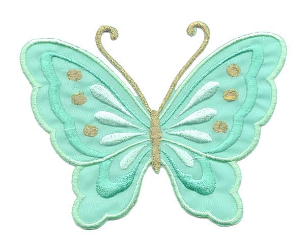 Applikation Patch Schmetterling 10,8 x 8cm Farbe: Mint