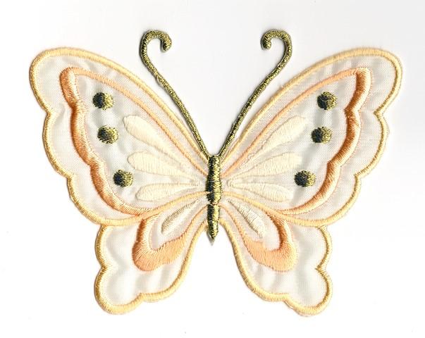 Applikation Patch Schmetterling 10,8 x 8cm