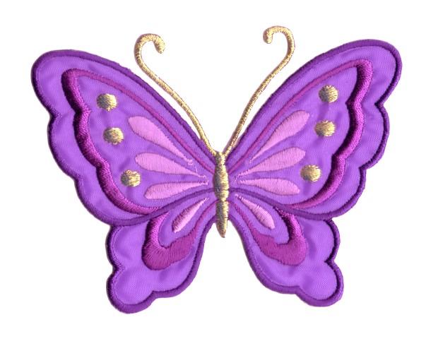 Applikation Patch Schmetterling 10,8 x 8cm Farbe: Lila