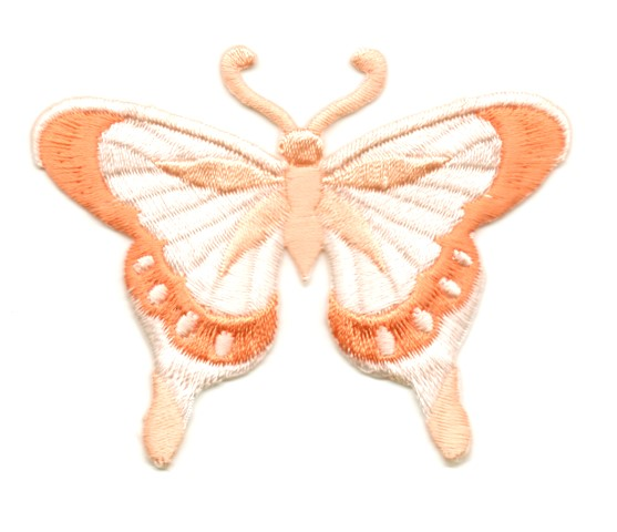 Applikation Patch Schmetterling 8 x 6cm Farbe: Lachs