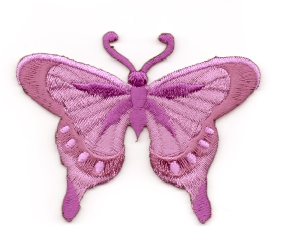 Applikation Patch Schmetterling 8 x 6cm Farbe: Brombeer
