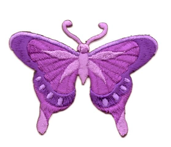 Applikation Patch Schmetterling 8 x 6cm Farbe: Lila