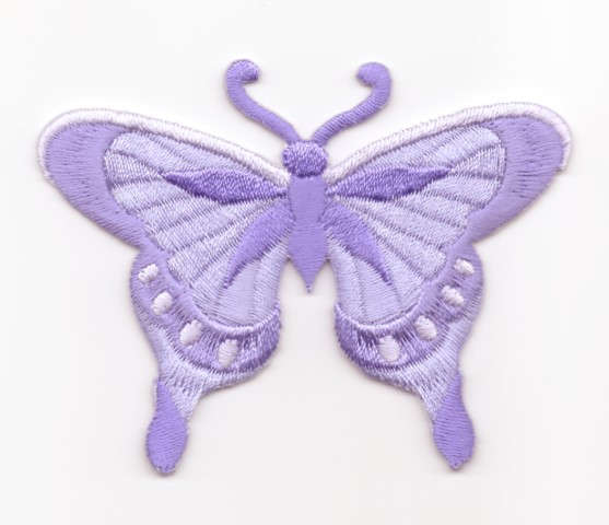 Applikation Patch Schmetterling 8 x 6cm Farbe: Flieder
