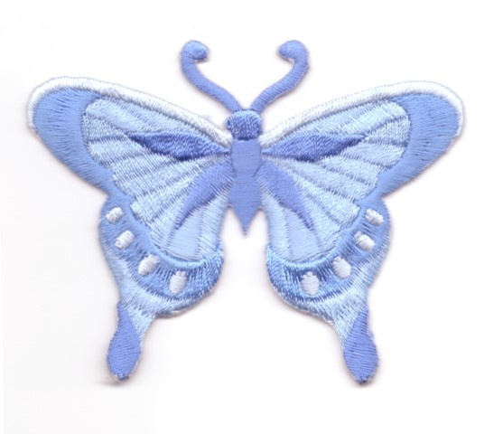 Applikation Patch Schmetterling 8 x 6cm Farbe: Hellblau