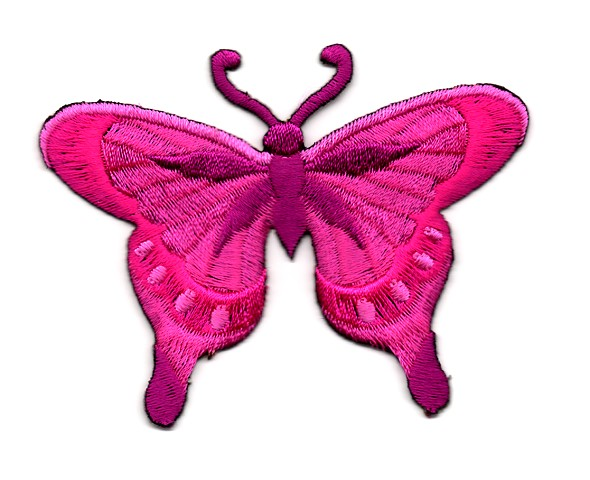 Applikation Patch Schmetterling 8 x 6cm Farbe: Pink