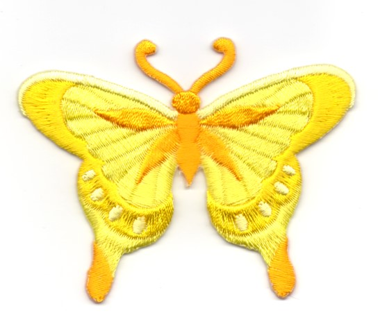 Applikation Patch Schmetterling 8 x 6cm Farbe: Gelb