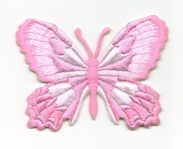 Applikation Patch Schmetterling 7,5 x 5,5cm Farbe: Rosa