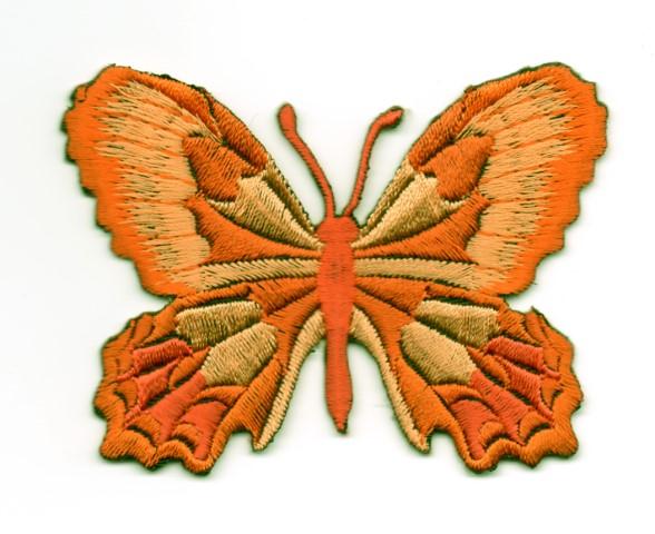 Applikation Patch Schmetterling 7,5 x 5,5cm Farbe: Terracotta