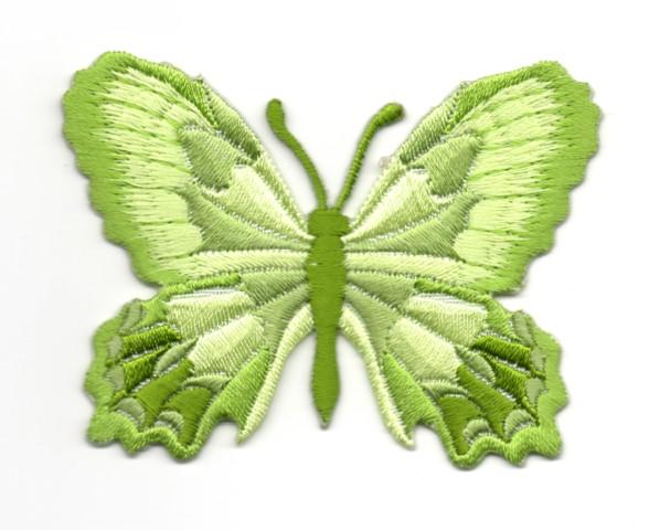 Applikation Patch Schmetterling 7,5 x 5,5cm Farbe: Neongrün