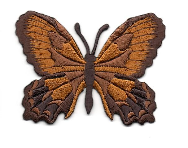 Applikation Patch Schmetterling 7,5 x 5,5cm Farbe: Braun