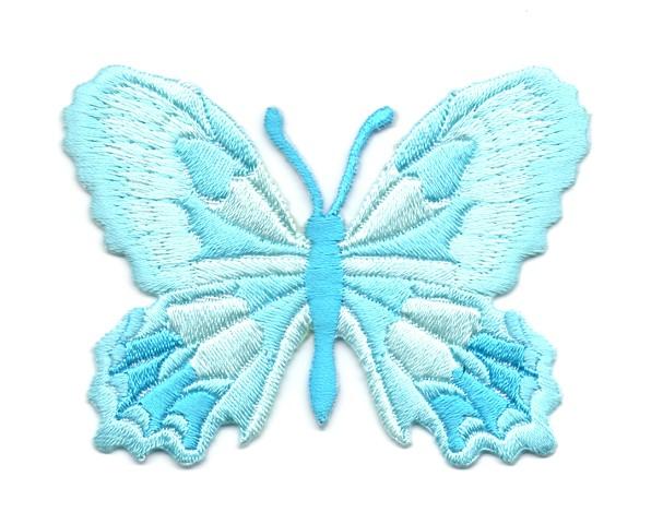 Applikation Patch Schmetterling 7,5 x 5,5cm Farbe: Hellblau