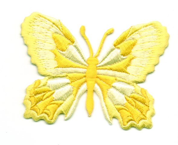 Applikation Patch Schmetterling 7,5 x 5,5cm Farbe: Gelb