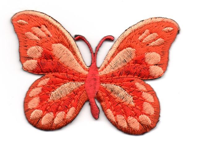 Applikation Patch Schmetterling 7,5x5,5cm Farbe: Terracotta