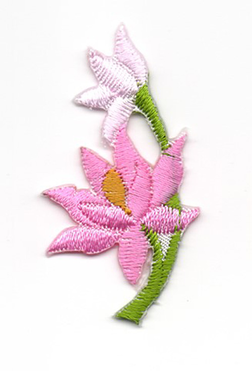 Applikation Sticker Blume 4,7 x 2,6cm Farbe: Rosa