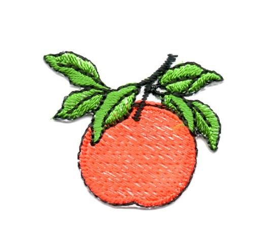 Applikation Sticker Orange 3,5 x 3cm