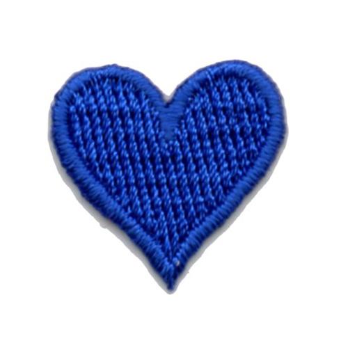 Applikation Sticker Herz 2 x 2cm Farbe: Blau