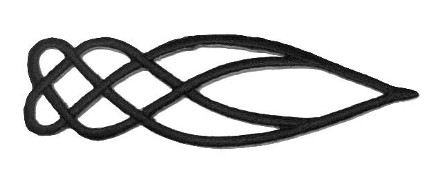 1 Applikationen Tribal Farbe: Schwarz 10,5 x 2,8cm