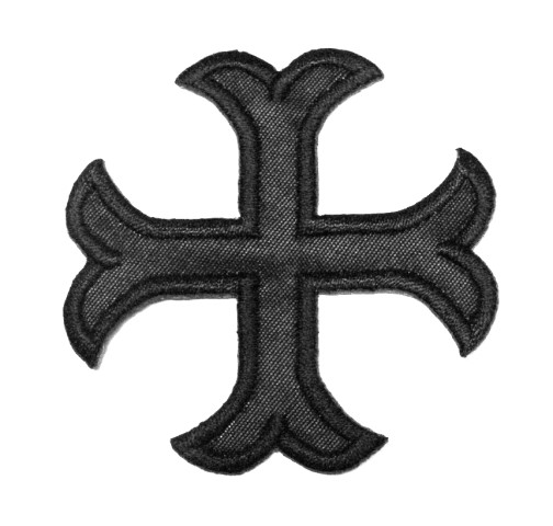 1 Applikationen Kreuz Farbe: Schwarz 2,2 x 2,2cm