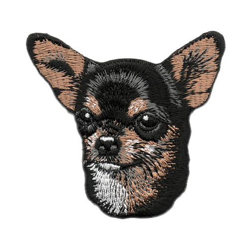 Applikation Patch Hund Chihuahuas 6,5 x 7,3cm